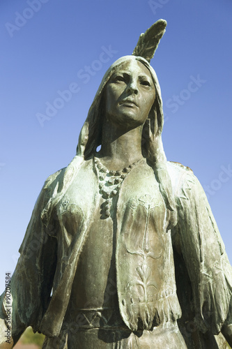 Cuadros en Lienzo Pocahontas Statue, by William Ordway Partridge, erected in 1922, representing Pocahontas the favorite daughter of Powhatan, who ruled the Powhatan Confederacy