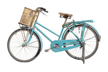 Vintage Bicycle Isolated On A White