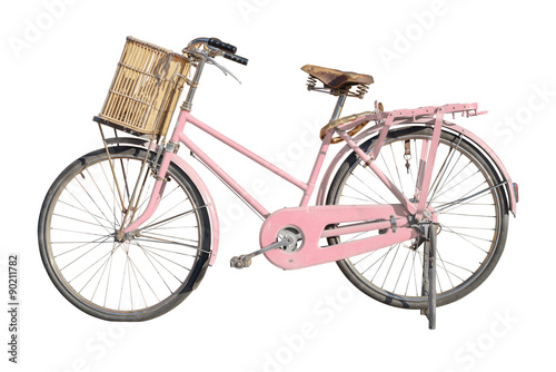 Aluminium Prints Bicycle vintage bicycle isolated on a white
