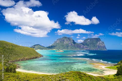 fototapeta na drzwi i meble View over Lord Howe Island lagoon, Australia