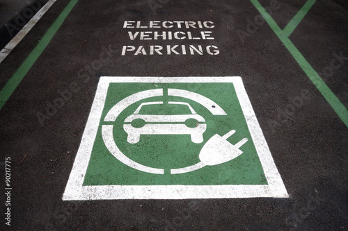 Photo  electric vehicle parking space