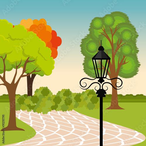 Photo Stands Birds, bees City park design.