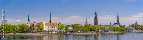 Canvas Prints Eastern Europe Panorama of Riga, Latvia