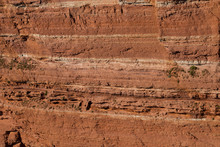 Texture Of Red Sandstone Cliff...