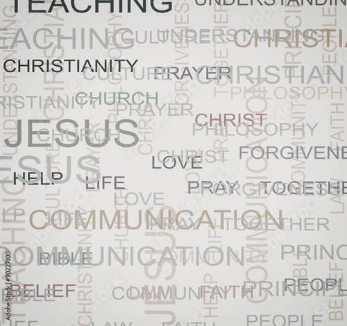 christian words background - Buy this stock illustration and explore