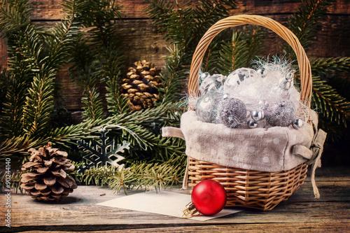 Stickers pour portes Pique-nique Christmas toys with Christmas tree