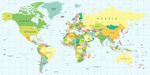 World Map - Highly Detailed Ve...