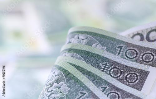 Fotografie, Obraz  polskie pieniądze, złotówki