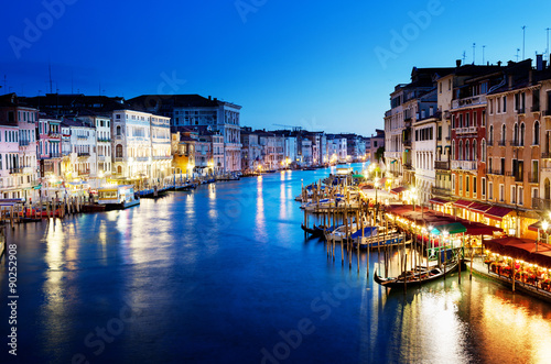 Fototapety, obrazy: Grand Canal in sunset time, Venice, Italy