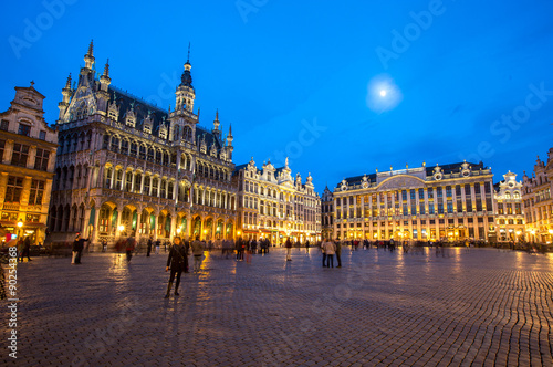 Spoed Foto op Canvas Brussel Grand Place Belgium