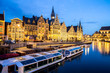 canvas print picture - Ghent Old town Belgium
