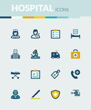 Hospital and emergency. Healthcare  colorful flat icons