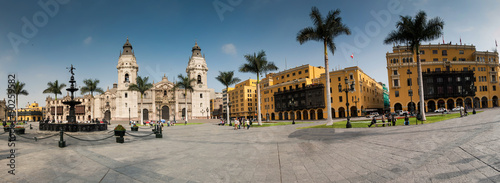 Poster Havana archiepiscopal palace in Lima Peru