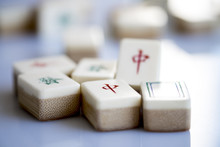 Red Dragons Mahjong Tiles