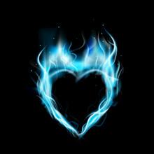 Symbol Of Love Blue Ring Of Fi...