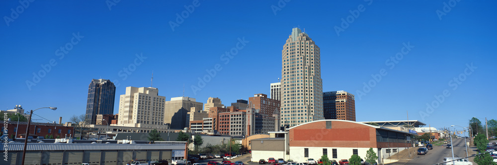 Fototapeta Panoramic view of Memphis Tennessee skyline