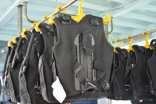 Staande foto Duiken Diving equipment