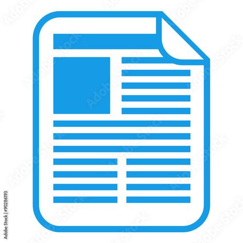 Fotografía  Icono aislado documento azul