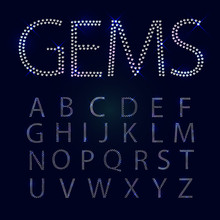 Gems Alphabet. All Capital Let...