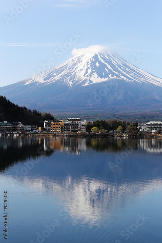 Wall Murals Kyoto Mount Fuji in kawaguchiko lake side.