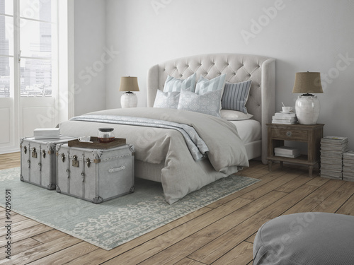 sch nes schlafzimmer buy this stock illustration and. Black Bedroom Furniture Sets. Home Design Ideas