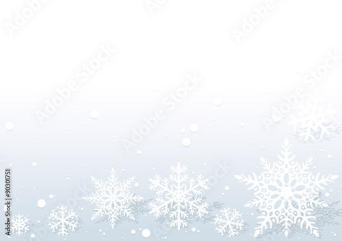 Christmas Background - Xmas White Snowflake Illustration, Vector Canvas-taulu