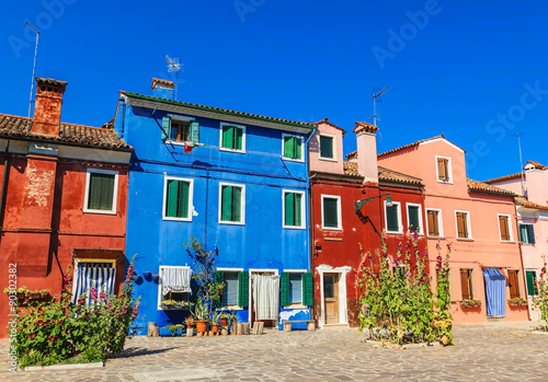 Keuken foto achterwand Buenos Aires Beautiful and colourful houses and buildings on Burano island, Venice, Italy.
