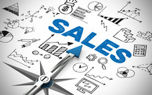 Arrow Pointing To Sales Concept