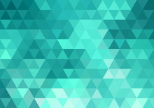 Abstract Teal Geometric Backgr...
