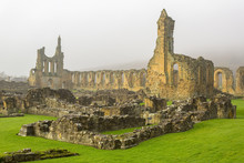 Byland Abbey, Yorkshire, UK. R...