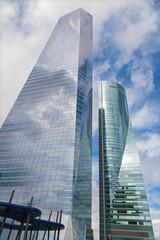 Madrid - Skyscraper Torre de Cristal and Torre Espacio