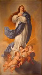 Fototapeta Do kościoła Malaga - painting of Immaculate Conception of Virgin Mary