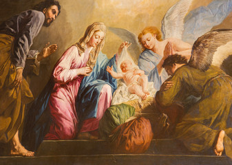FototapetaVienna - The Nativity paint in presbytery of Salesianerkirche