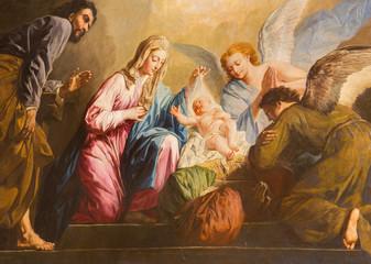 Fototapeta Vienna - The Nativity paint in presbytery of Salesianerkirche