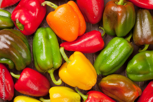 Photo Fresh colorful bell peppers
