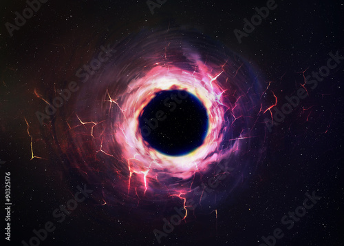 Fototapeta Black hole in space