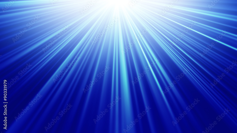 Fototapety, obrazy: blue light rays abstract background