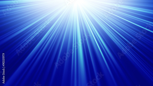 blue light rays abstract background