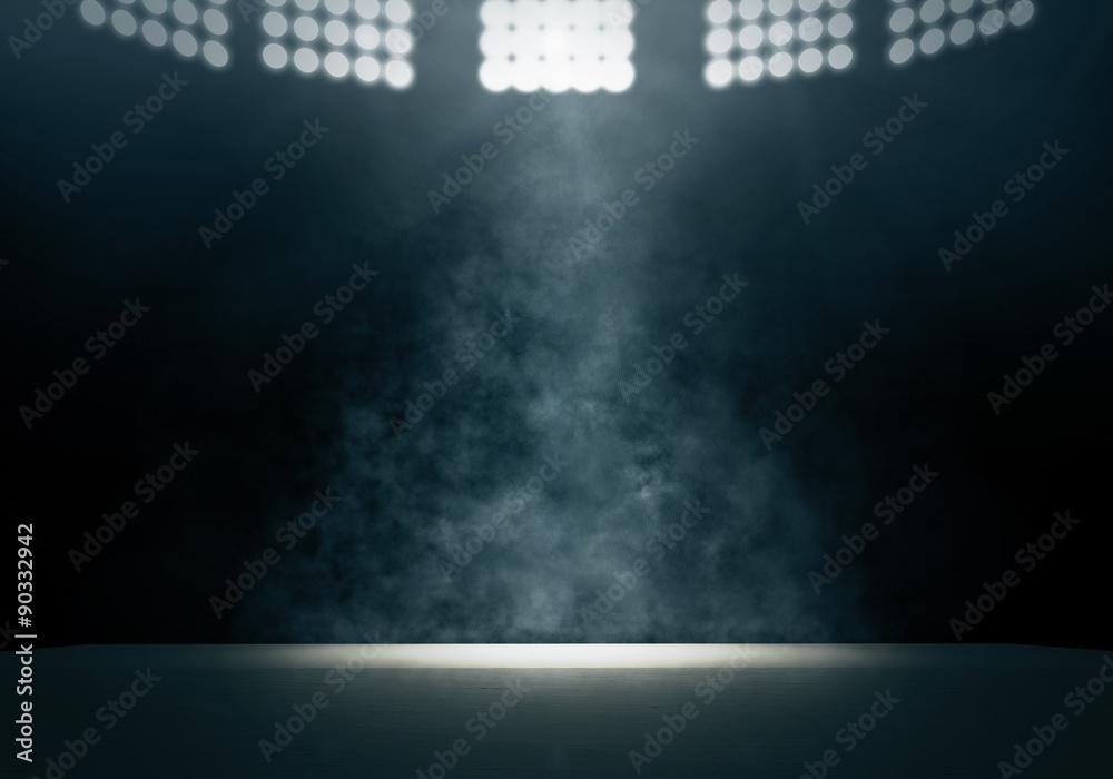 Fototapeta Spotlight and smoke on stage
