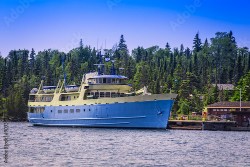 Fotografie, Obraz  A photo of the National Park Service vessel Ranger III at Isle Royale National Park, in Lake Superior, Michigan, USA