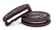 Cream Cookies Isolated On White