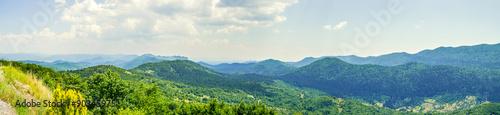Fotografie, Obraz  Panorama of mountain peaks