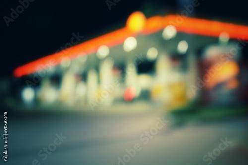 Fotografie, Obraz  Rozmazané z čerpací stanice