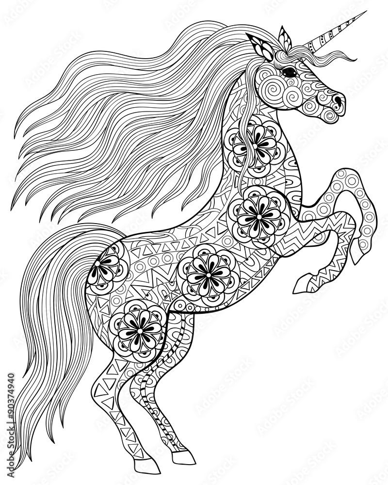- GamesAgeddon - Stock - Hand Drawn Magic Unicorn For Adult Anti