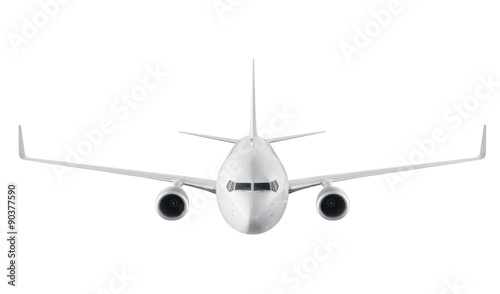 Türaufkleber Flugzeug Passenger airplane isolated on white background