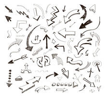 Hand Drawn Arrows Icons Set O...