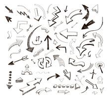Vector Hand Drawn Arrows Icons...