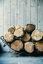 Fire Wood. Home Living Concept.