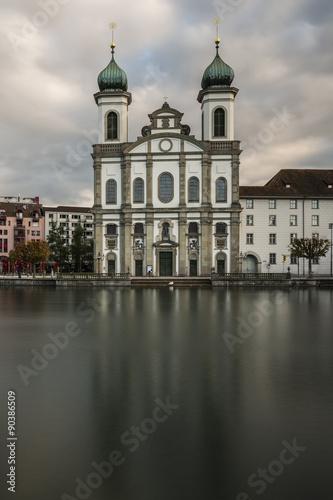 Garden Poster Vienna Eglise des Jésuites de Lucerne