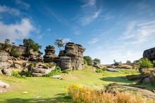 Brimham Rocks On A Sunny Day